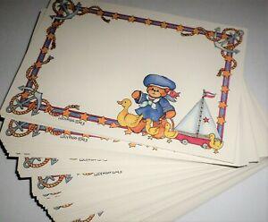 Baby Birthday Invitation Announcements Printable Blank Cards 100 5x7 Sailor Bear