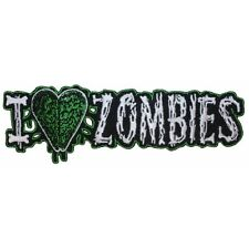 I Love (Heart) Zombies Horror Dead Kreepsville Embroidered IronOn Applique Patch