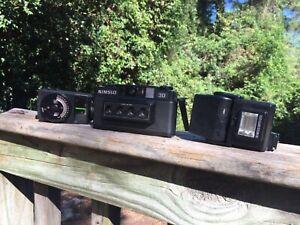 Vintage Nimslo 3D 35mm Film Camera *tested* + vivitar 45 light meter *READ*