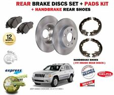FOR JEEP GRAND CHEROKEE 2005-> REAR BRAKE DISCS SET + PADS + HANDBRAKE SHOES KIT