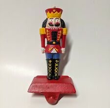Vintage Christmas Cast Iron Nutcracker Stocking Holder Midwest Importers Spiess