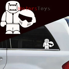 1x The JDM Domo With Motorcycle Helmet Vinyl Motorcycle Car Sticker Decal