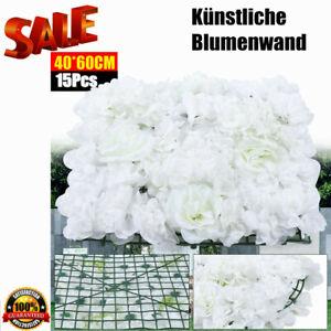 15x Künstliche Blumen Kunstblumen Girlande DIY Wand Garten Hochzeit Dekor DHL DE