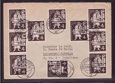 Bund 198 Gutenberg 10x auf Brief Schweiz Mef Mehrfachfrankatur selten (21161)