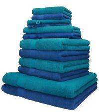 Betz 12er Handtuch Set Handtücher Duschtücher PALERMO  Baumwolle blau / petrol