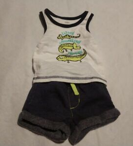 Gymboree baby boy 0-3 months Tiger Elephant Aligator Zoo Summer Outfit Shorts 3m