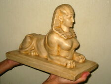 French Antique Egyptian Revival Sphinx Cleopatra Victorian Grand Tour Plaster