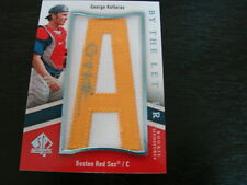 2009 SP Authentic By The Letter George Kottaras Autograph / Signed Card (B3)