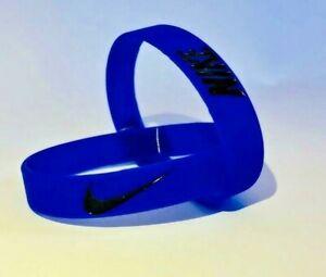 Nike Baller Band Silicone Rubber Bracelet Royal Blue Black Elite Series AF1