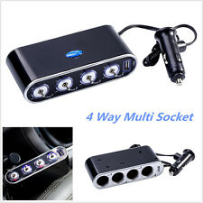 USB Port 4 Way Car Cigarette Lighter Socket Splitter DC 12V/24V Charger Adapter