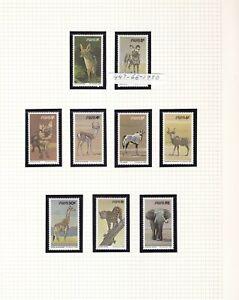 SWA - SOUTH WEST AFRICA 1980 WILD ANIMALS SET SC 447 - 492 MNH