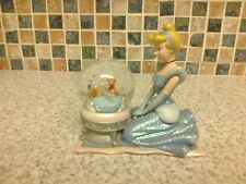 DISNEY CINDERELLA SNOW GLOBE SHOE & MICE INSIDE THE GLOBE