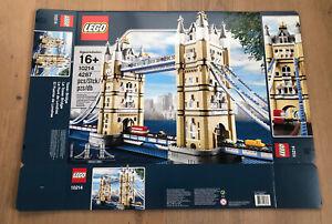LEGO 10214 Tower Bridge Leerkarton/Box/Ovp NEU