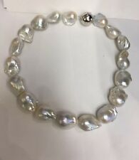 """20x35mm Multi Colored  Freshwater PearlGreat Colors. Great Matches. Round.  17"""""""