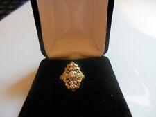Vintage 10K White Gold 0.01 Ct Single Cut Diamond Filigree Ring EUC 1.87 G SZ 3