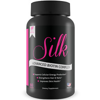 Silk Advanced Biotin Complex - Promotes Stronger, Longer Hair & Healthy Skin