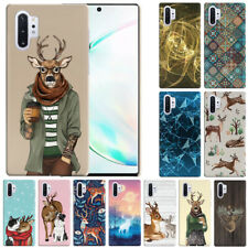 "For Samsung Galaxy Note 10+ / 10 Plus 6.8"" 2019 Deer Design Hard Back Case Cover"