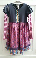 Matilda Jane 10 Secret Fields elegant Austin stripe sleeve floral dress EXCLUSIV