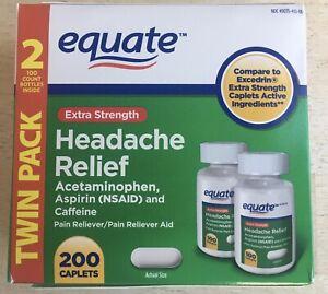 EQUATE Extra-strength Headache Relief Tablets 200 Pieces
