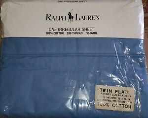 NIP Ralph Lauren Blue Twin Size Topsheet