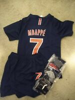 PARIS Mbappe Kids Jersey Kit Age 3 - 13 Yrs Shirt, short, socks 2018 19