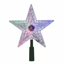 "Kurt Adler 8.5"" Led Light Color Changing Star Treetop Tree Topper Xmas Decor"