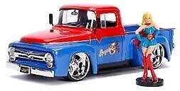 Diecast Figures--DC Bombshells - Supergirl 1956 Ford F100 1:24 Scale Hollywoo...