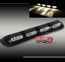 UNIVERSAL 4X4 OFF-ROAD ROOF OVAL CHROME FOG LIGHT BAR W/BULB SUV CADILLAC CHEVY