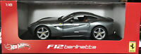 Hot Wheels Ferrari F12 Berlinetta 1:18 Diecast Silver