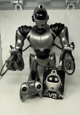 WowWee Robosapien RS V2 robot - RARE GREY - Manual & Controller - Read Desc