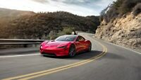 "Tesla Roadster Auto Car Art Silk Wall Poster Print 24x36"""