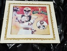 vtg mighty morphin Power Rangers Glass Mirror Picture Carnival fair Prize square