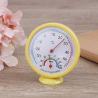 1PC Bell-shaped Scale Thermometer Hygrometer Wall Mount Temperature Measure Y TW