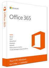 Microsoft Office 365 - PC et Mac - 5 appareils à vie