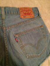 Ladiesvintage Levis Red Tab faded stonewash wash frayed hem high waist hot pants