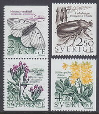 SWEDEN - 1987 Threatened Species of Meadows and Pastures (4v) - UM / MNH