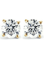 3/4ct Diamond Studs 14K Yellow Gold