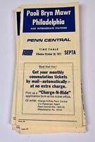 Septa Train Railroad Timetables Lot Paoli Bryn Mawr  Philadelphia PA 1970s