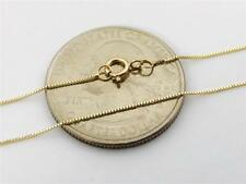 """14K 18"""" Solid Yellow Gold Thin Dainty Classic BOX Necklace Chain .5mm 14K Gold"""