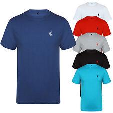 New Mens T shirt Polo Crew Neck Short Sleeve Designer Style Reg Fit Tee Cotton