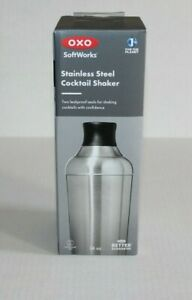 OXO SoftWorks Stainless Steel Cocktail Shaker Leakproof Kitchen Dinning New