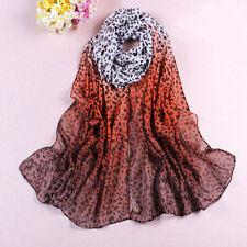 Chiffon Animal Print Stole Scarves & Wraps for Women