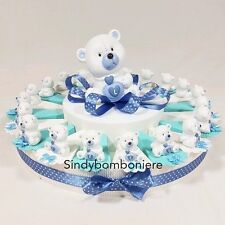Wedding favors Baptism Birth BEAR CUB Love Pie Sugared almonds bags boxes Baby