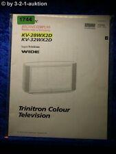 Sony Bedienungsanleitung KV 28WX2D / 32WX2D Color TV (#1744)