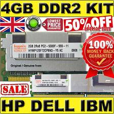 ORIGINAL 4GB (2x 2GB) PC2-5300F 667Mhz FBDIMM ECC Memory 2Rx8 HP p/n 461828-B21
