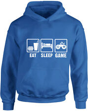 Eat Sleep Game Kid's Imprimé Sweat à capuche Filles Garçons Doux Sweat Neuf Pull...
