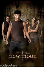 TWILIGHT SAGA NEW MOON JACOB AND WOLF PACK TAYLOR LAUTNER NEW POSTER 22x34