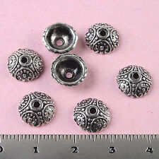 40pcs Tibetan silver round dotted spacer beads H0115
