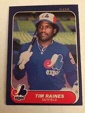 1986 Fleer #256 - Tim Raines - Montreal Expos