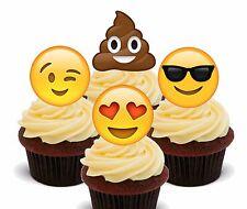 Emoji/SMILEY Caras-Magdalena Toppers Comestible, Decoraciones De Hadas Pastel Bun Poo